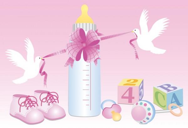婴儿用品粉色